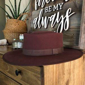 Madewell x Biltmore felt boater hat